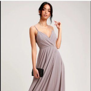 Lulu's All About Love Maxi Dress Taupe